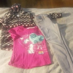 3 piece lil girls outfit
